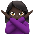 Woman Gesturing No: Dark Skin Tone on Apple iOS 11.3