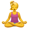 Woman in Lotus Position on Apple iOS 11.3