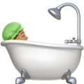 Person Taking Bath: Medium Skin Tone on Apple iOS 12.1