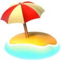 Beach With Umbrella on Apple iOS 12.1