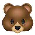 Bear Face on Apple iOS 12.1
