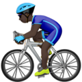 Person Biking: Dark Skin Tone on Apple iOS 12.1
