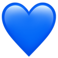 Blue Heart on Apple iOS 12.1