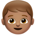 Boy: Medium Skin Tone on Apple iOS 12.1
