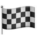 Chequered Flag on Apple iOS 12.1