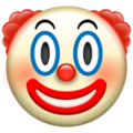 Clown Face on Apple iOS 12.1