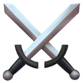 Crossed Swords on Apple iOS 12.1