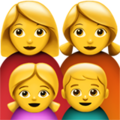 Family: Woman, Woman, Girl, Boy on Apple iOS 12.1