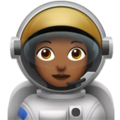 Woman Astronaut: Medium-Dark Skin Tone on Apple iOS 12.1