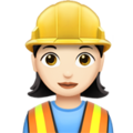 Woman Construction Worker: Light Skin Tone on Apple iOS 12.1