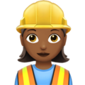 Woman Construction Worker: Medium-Dark Skin Tone on Apple iOS 12.1