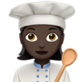 Woman Cook: Dark Skin Tone on Apple iOS 12.1