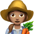 Woman Farmer: Medium Skin Tone on Apple iOS 12.1