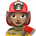 Woman Firefighter: Medium Skin Tone on Apple iOS 12.1