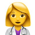 Woman Health Worker on Apple iOS 12.1