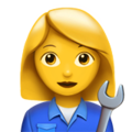 Woman Mechanic on Apple iOS 12.1