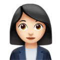 Woman Office Worker: Light Skin Tone on Apple iOS 12.1
