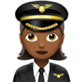 Woman Pilot: Medium-Dark Skin Tone on Apple iOS 12.1