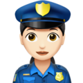 Woman Police Officer: Light Skin Tone on Apple iOS 12.1