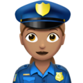 Woman Police Officer: Medium Skin Tone on Apple iOS 12.1