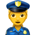 Woman Police Officer on Apple iOS 12.1