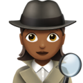 Woman Detective: Medium-Dark Skin Tone on Apple iOS 12.1