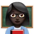 Woman Teacher: Dark Skin Tone on Apple iOS 12.1