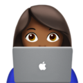 Woman Technologist: Medium-Dark Skin Tone on Apple iOS 12.1