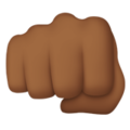 Oncoming Fist: Medium-Dark Skin Tone on Apple iOS 12.1