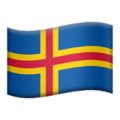 Flag: Åland Islands on Apple iOS 12.1