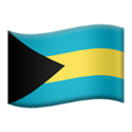 Flag: Bahamas on Apple iOS 12.1