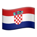 Flag: Croatia on Apple iOS 12.1
