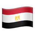 Flag: Egypt on Apple iOS 12.1