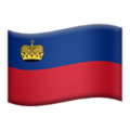 Flag: Liechtenstein on Apple iOS 12.1