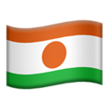 Flag: Niger on Apple iOS 12.1