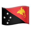 Flag: Papua New Guinea on Apple iOS 12.1