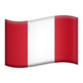 Flag: Peru on Apple iOS 12.1