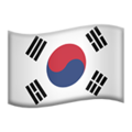 Flag: South Korea on Apple iOS 12.1