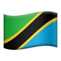 Flag: Tanzania on Apple iOS 12.1