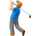 Person Golfing: Light Skin Tone on Apple iOS 12.1