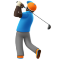 Person Golfing: Dark Skin Tone on Apple iOS 12.1