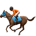 Horse Racing: Medium-Dark Skin Tone on Apple iOS 12.1