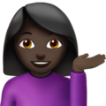 Person Tipping Hand: Dark Skin Tone on Apple iOS 12.1