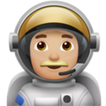 Man Astronaut: Medium-Light Skin Tone on Apple iOS 12.1