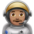 Man Astronaut: Medium Skin Tone on Apple iOS 12.1