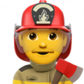 Man Firefighter on Apple iOS 12.1