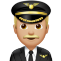 Man Pilot: Medium-Light Skin Tone on Apple iOS 12.1