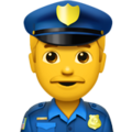 Man Police Officer on Apple iOS 12.1