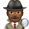 Man Detective: Medium-Dark Skin Tone on Apple iOS 12.1