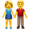 Man and Woman Holding Hands on Apple iOS 12.1